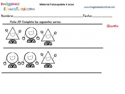 Cuadernillo complementario para 4 años, Educación Preescolar (20)
