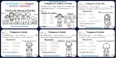 Cuderno lectoescritura La FAMILIA Portada