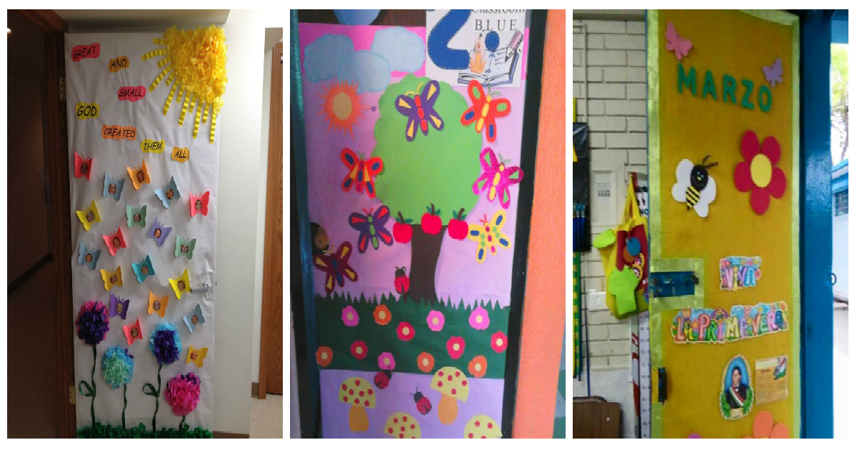 Decoracion puertas clase primavera portada2 imagenes for Puertas decoradas educacion infantil