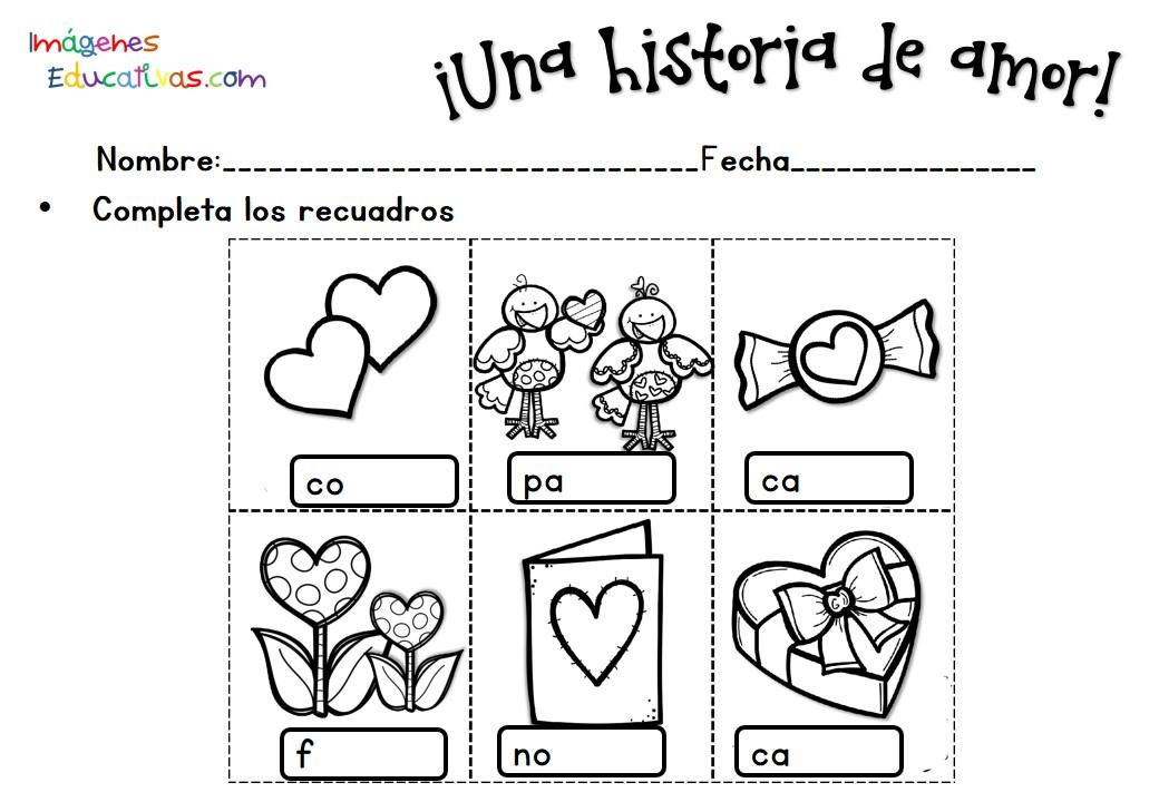 Excepcional Páginas De Actividades De San Valentín Motivo - Dibujos ...