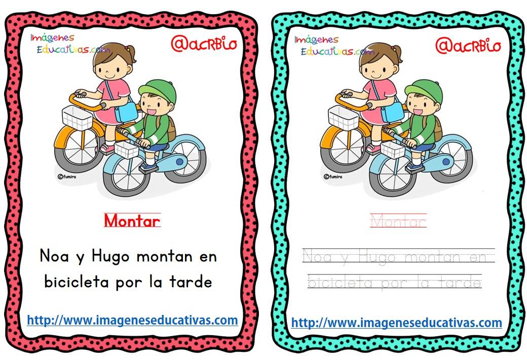 Lectoescritura verbos de acción (1) - Imagenes Educativas