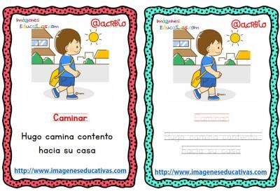 Lectoescritura verbos de acción (5)