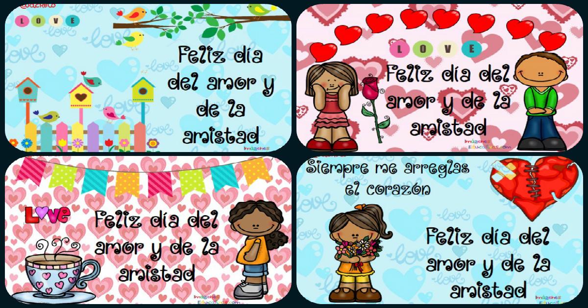 Tarjetas Para El Dia Del Amor Y De La Amistad Originalesy Listas