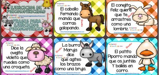 Frases para ejercicios psicomotrices Baby Farm PORTADA