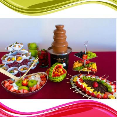 Fuentes y brochetas de frutas (5)