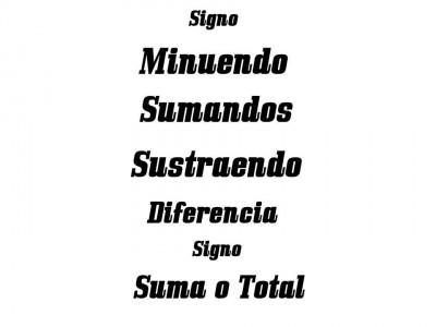 Los elementos de la suma y de la resta Color (6)