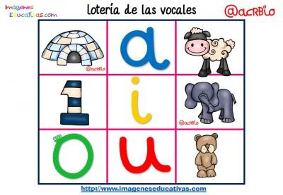 Lotería Bingo de las vocales (8)
