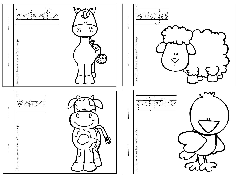 Mi libro de colorear de animales domesticos (2) - Imagenes Educativas