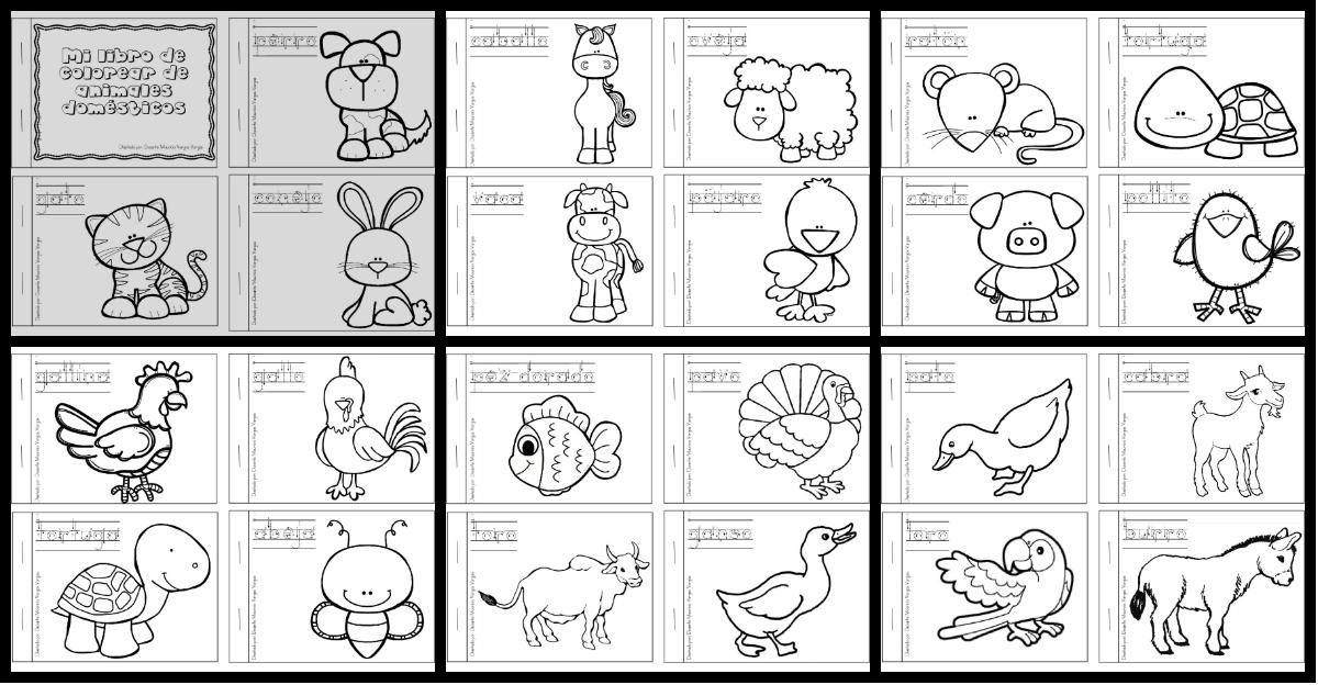Mi libro de colorear de animales domesticos PORTADA - Imagenes ...