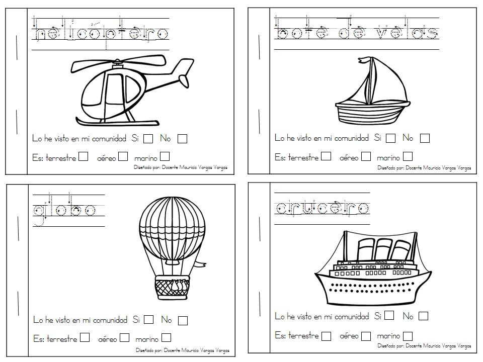 Mi libro de colorear de medios de transporte (3) - Imagenes Educativas