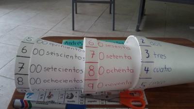 Practicamos los números con vasos de papel (3)