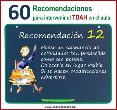 60 recomendaciones para intervenir el TDAH en el aula (12)
