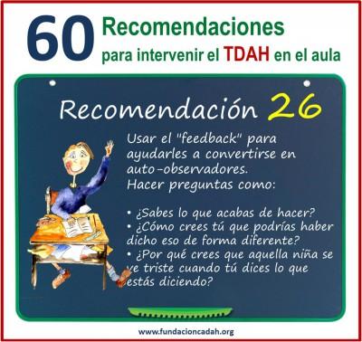 60 recomendaciones para intervenir el TDAH en el aula (26)