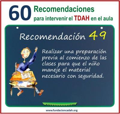60 recomendaciones para intervenir el TDAH en el aula (49)
