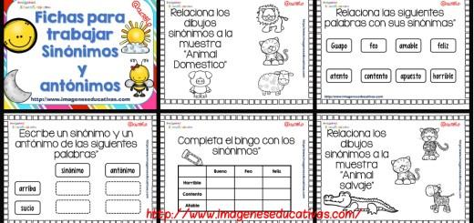 Opuestos, antónimos o contrarios, tarjetas para trabajar en clase I ...
