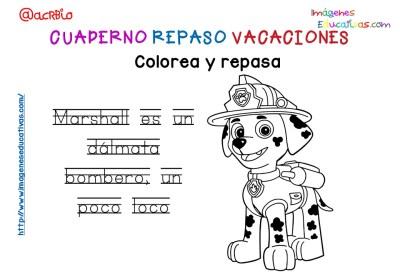 Cuderno de repaso para vacaciones Patrulla Canina (16)
