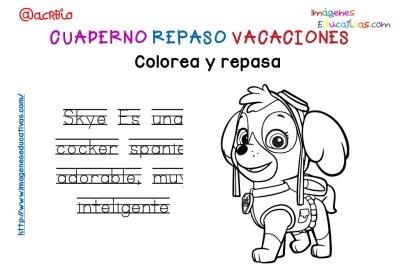 Cuderno de repaso para vacaciones Patrulla Canina (17)