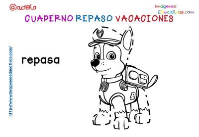 Cuderno de repaso para vacaciones Patrulla Canina (6)
