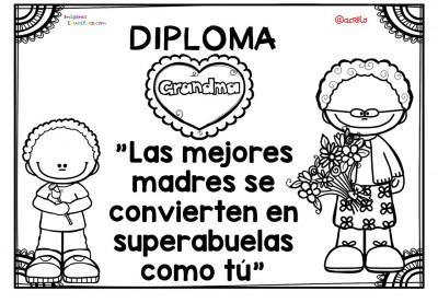Diplomas para colorear del día de las madres. 10 de Mayo (2)
