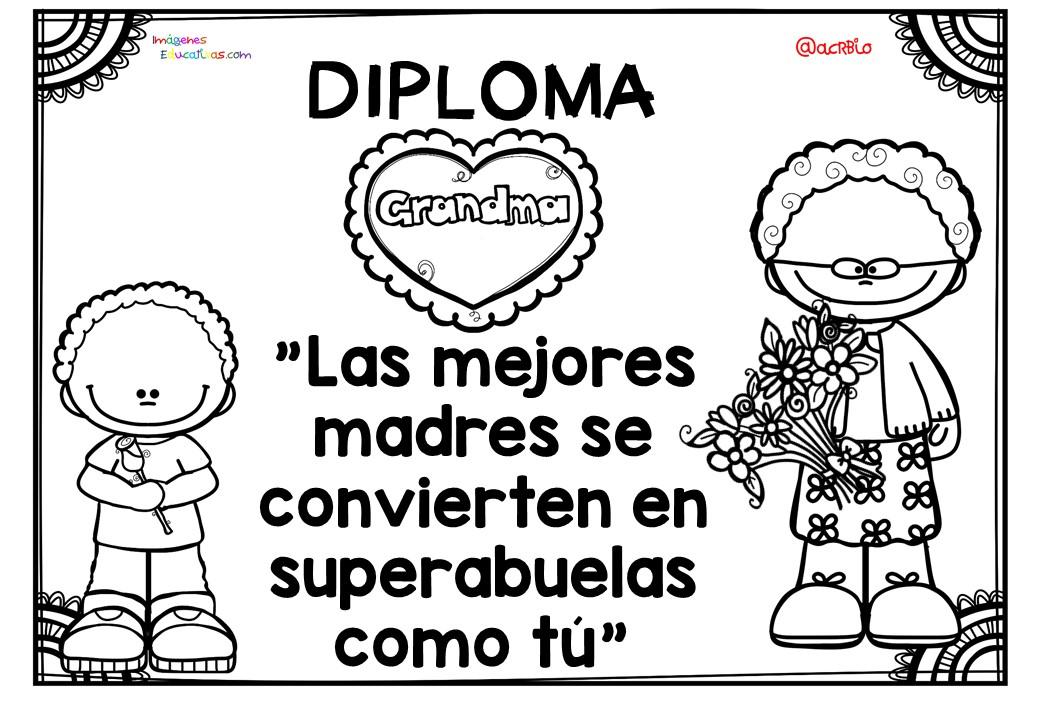 Diplomas para colorear del día de las madres. 10 de Mayo (2 ...