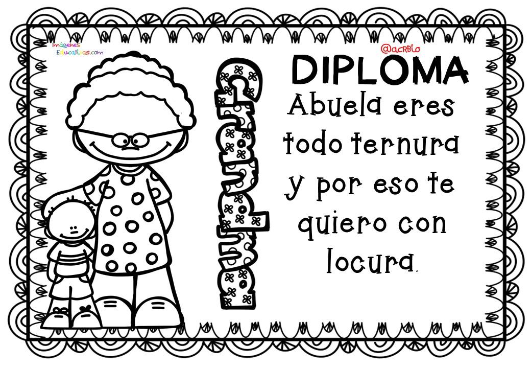 Diplomas Para Colorear Del Día De Las Madres 10 De Mayo 4