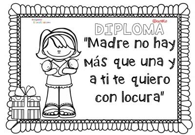 Diplomas para colorear del día de las madres. 10 de Mayo (6)