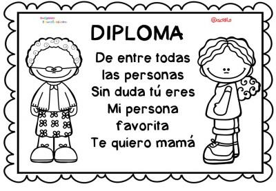 Diplomas para colorear del día de las madres. 10 de Mayo (8)