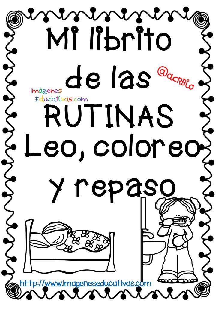 Rutinas libro para colorear y aprender (1) - Imagenes Educativas
