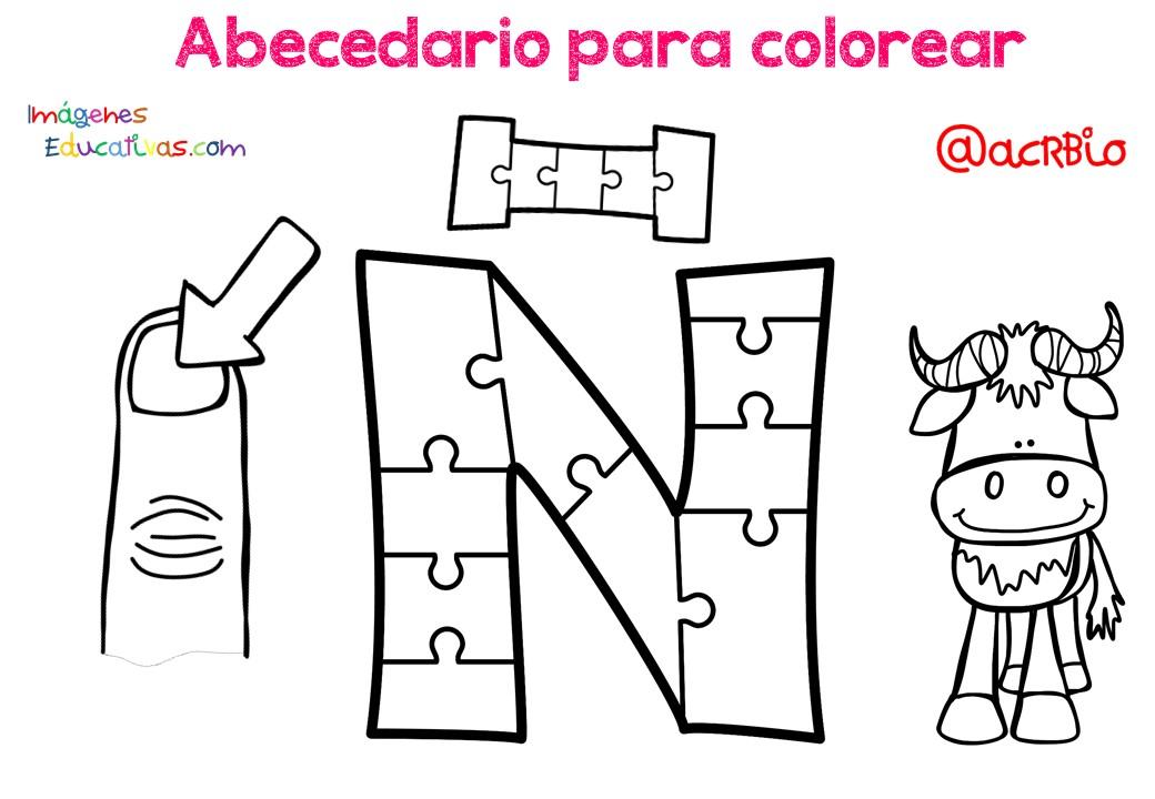 Abecedario Para Colorear 15 Imagenes Educativas