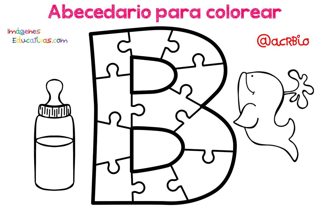 Abecedario Para Colorear 2 Imagenes Educativas