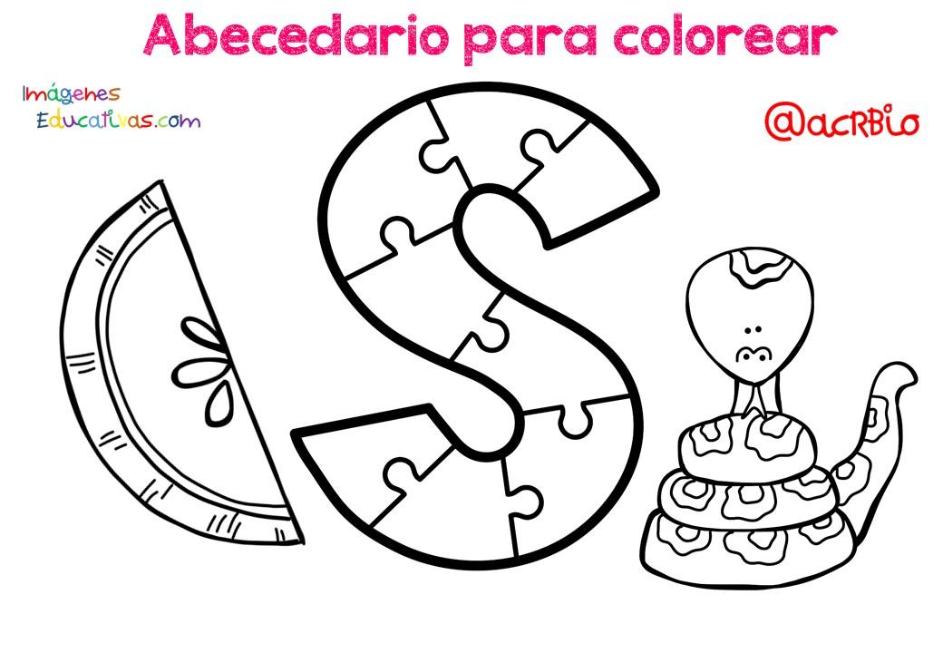 Abecedario Para Colorear 20 Imagenes Educativas