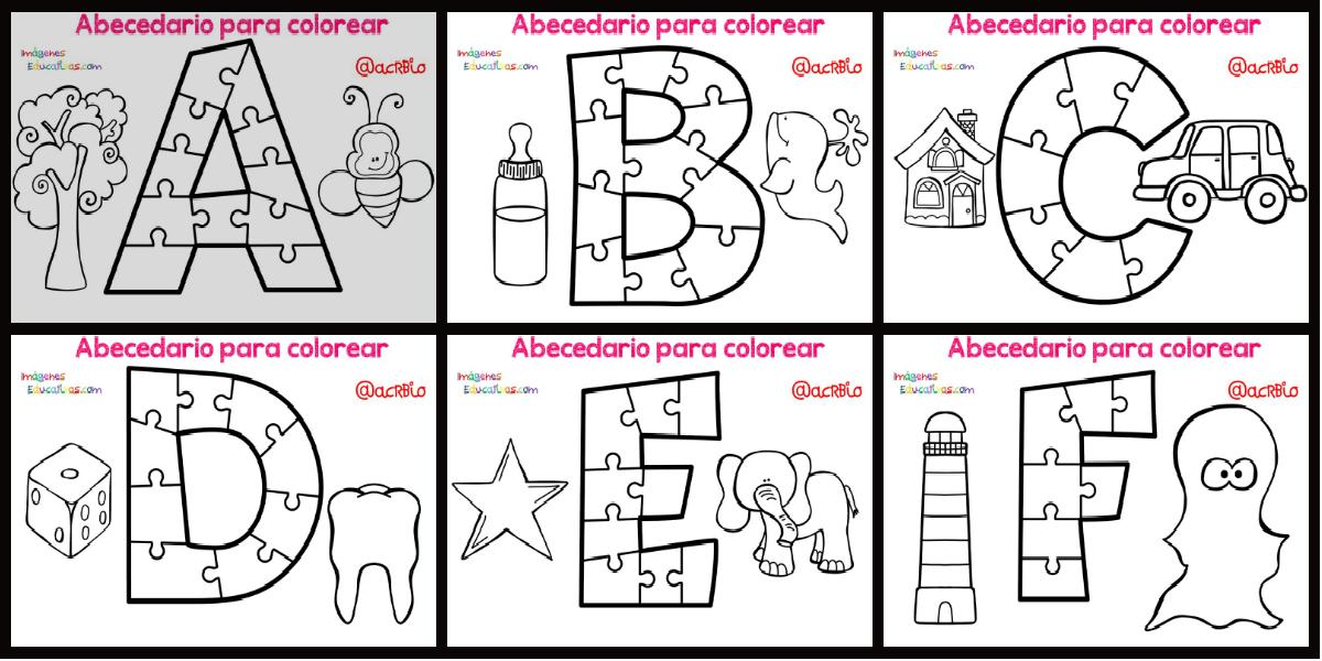 Abecedario Para Colorear Portada Imagenes Educativas