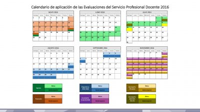 Calendario de Evaluaciones SEP INEE 2016 (18)
