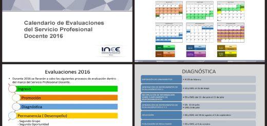 Calendario de Evaluaciones SEP INEE 2016 PORTADA