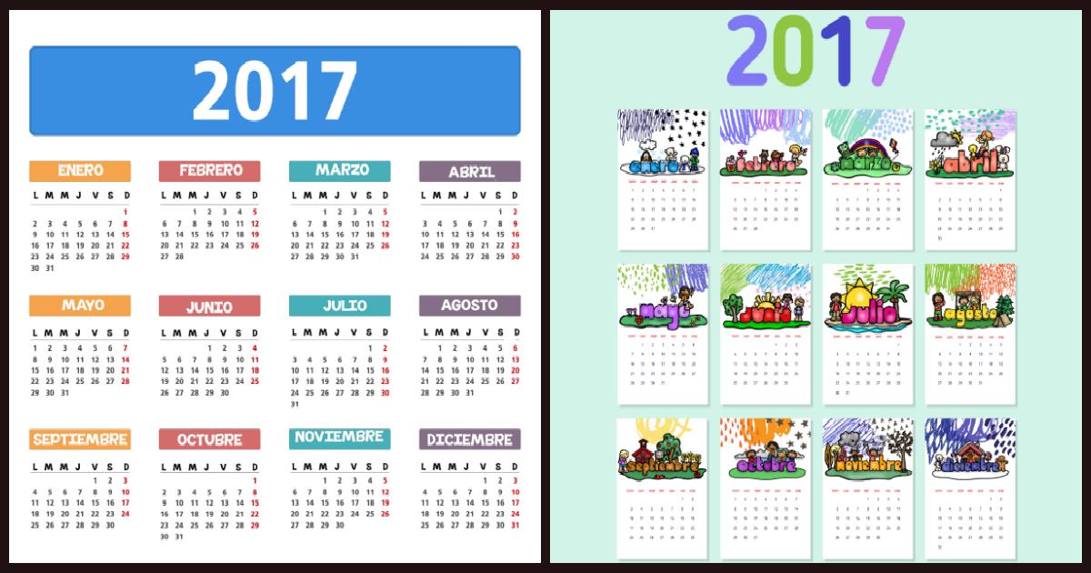 Calendario 2017 Portada 2 Imagenes Educativas