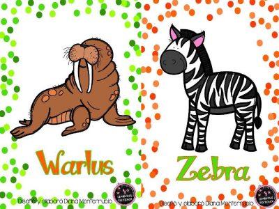 Tarjetas De Animales De Zoológico Y Hábitats (22)
