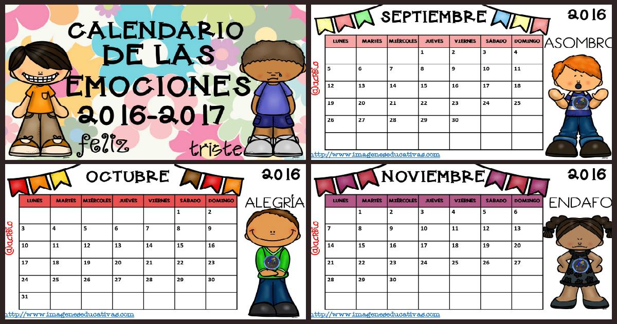 Calendario 2017 para trabajar las emociones- PORTADA - Imagenes ...