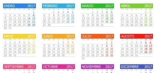 Calendario 2017 Archivos Imagenes Educativas