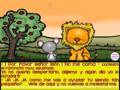 Fábula  el león y el ratón (3)