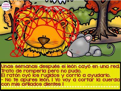 Fábula  el león y el ratón (4)