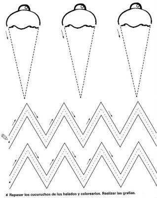 Fichas de grafomotricidad diferentes niveles (28)