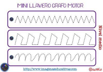 Llavero para trabajar la Grafomotricidad diferentes niveles (4)
