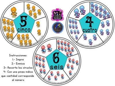 Spinners numéricos trabajamos el conteo (3)