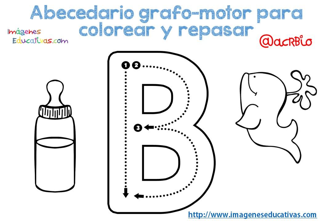 Alfabeto Para Colorear: Abecedario-grafo-motor-para-colorear-y-repasar-2