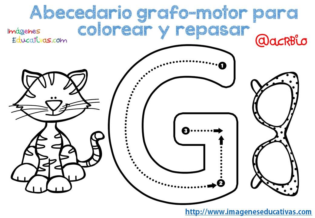 Alfabeto Para Colorear: Abecedario-grafo-motor-para-colorear-y-repasar-7