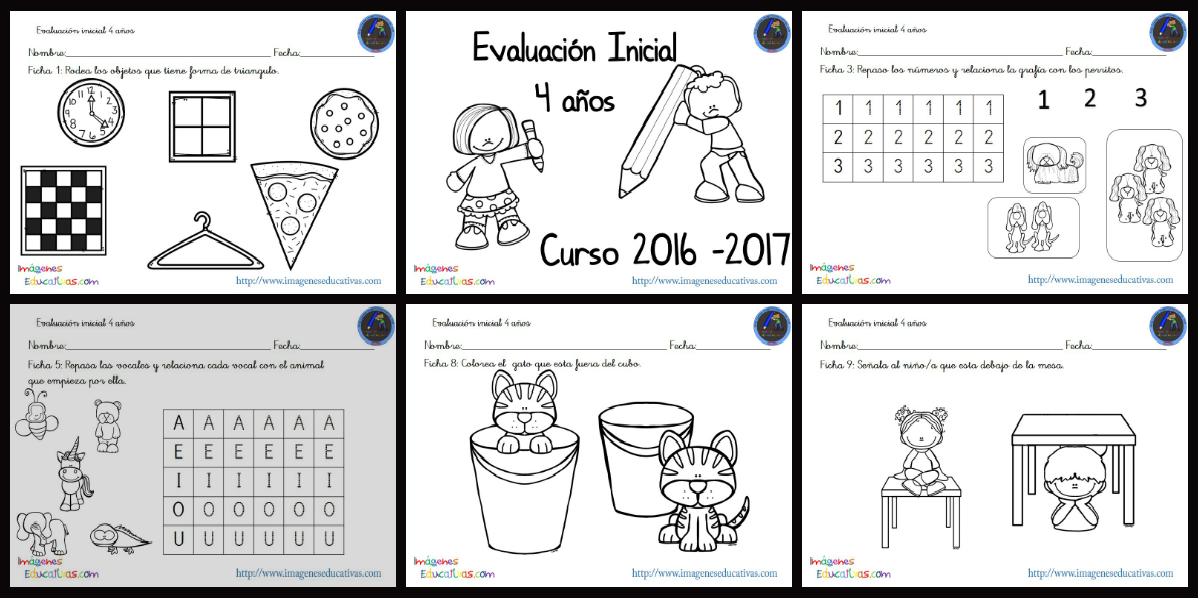 Evaluación inicial 4 años 2016-2017 PORTADA - Imagenes Educativas