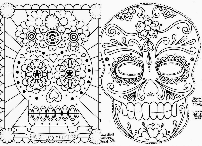 Dibujos De Calaveras Bonitas Para Colorear: Calaveras-y-catricas-para-colorear-1