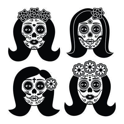 38903860 - mexican la catrina - day of the dead girl skull