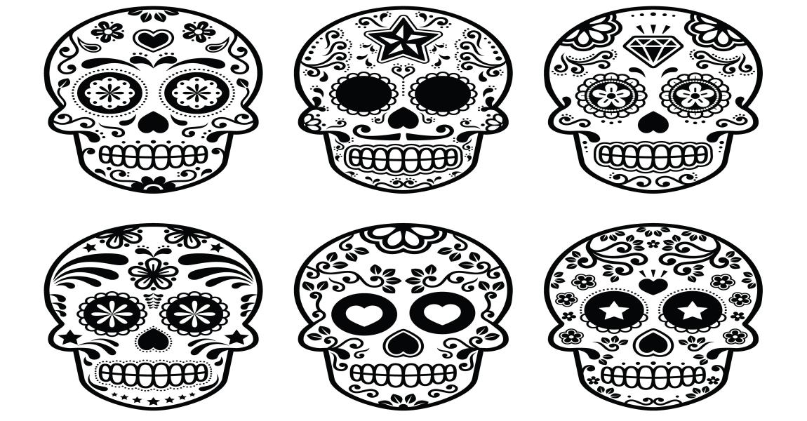 Calaveras Y Catrinas Para Colorear El Día De Los Muertos