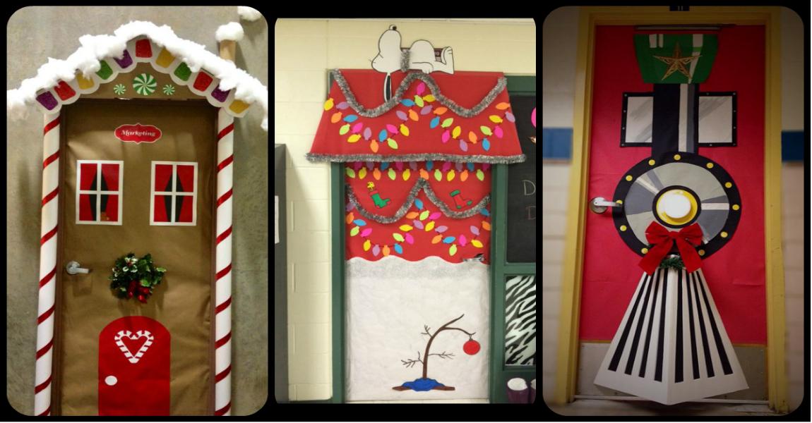 Puertas navidenas portada imagenes educativas for Ideas para decorar puertas navidenas
